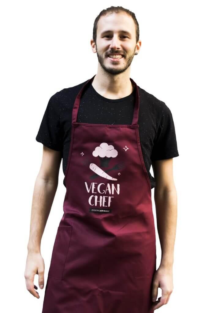 grembiule vegan chef essere animali