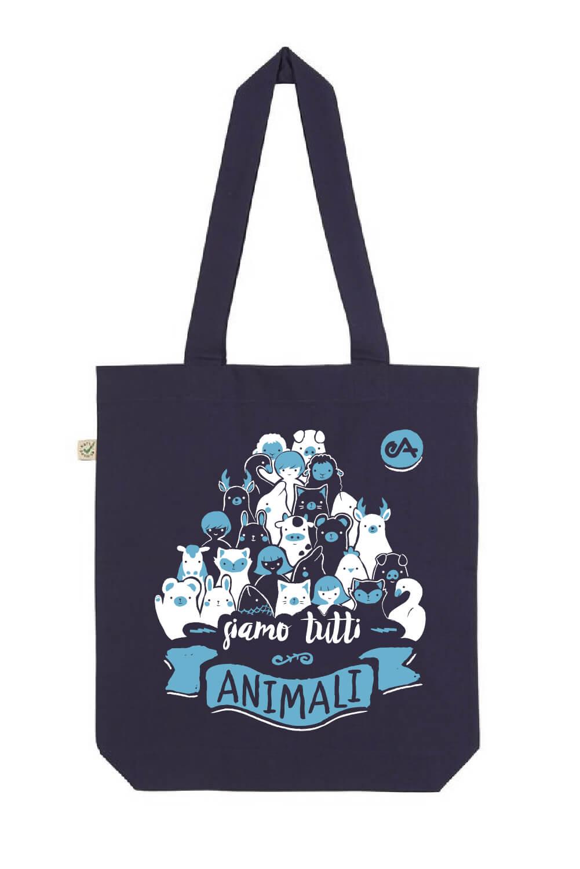 regali solidali: la borsa di essereanimali contro la violenza sugli animali