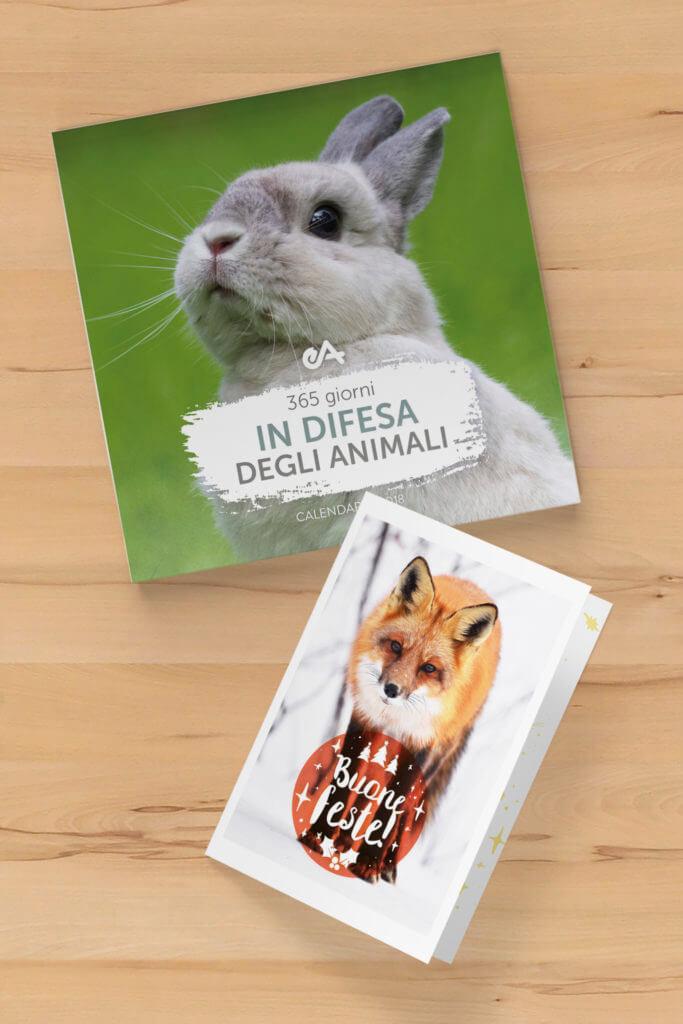 cartolina auguri e calendario regali aziendali a sostegno degli animali