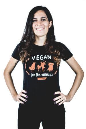 maglietta vegan for the animals cotone bio