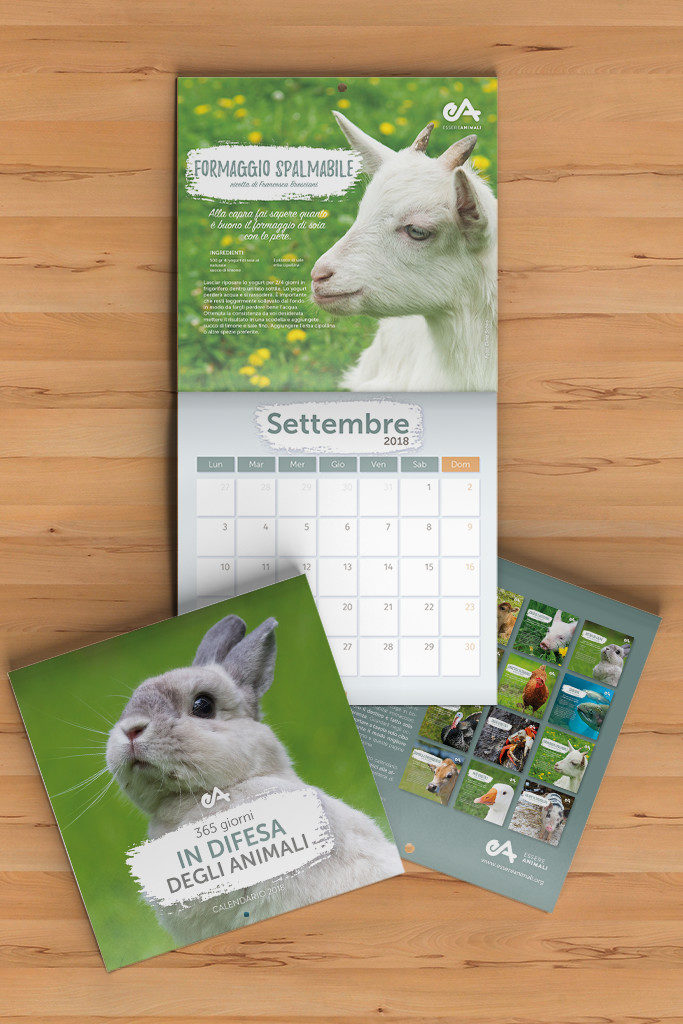 calendario 2018 in difesa degli animali