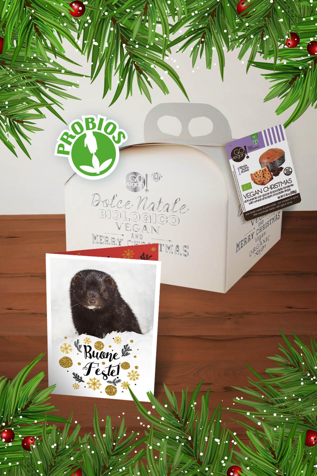 panetotne vegan e cartolina auguri natale animali