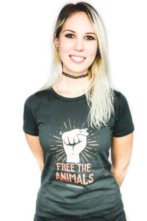 maglietta cotone biologico a sostegno degli animali