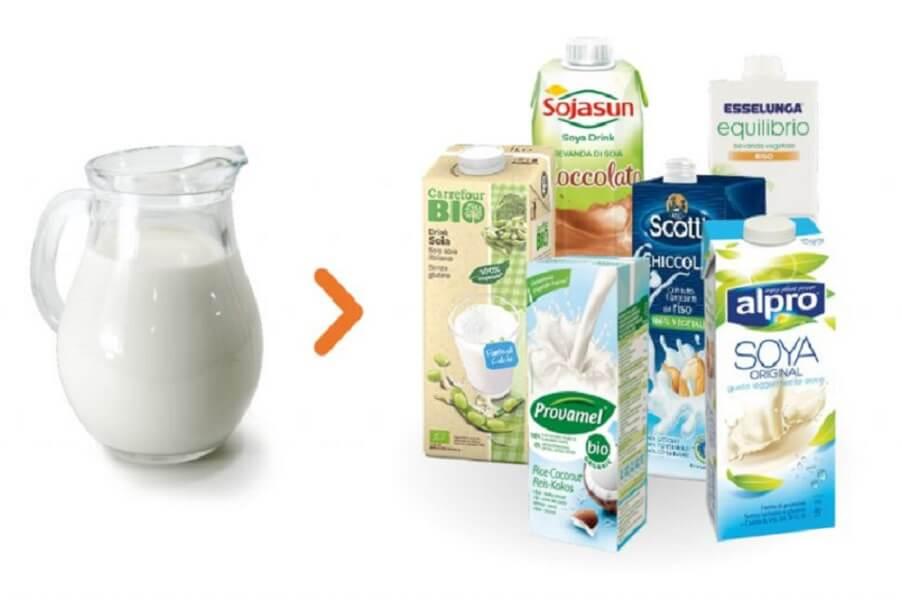 Alternative vegetali al latte.
