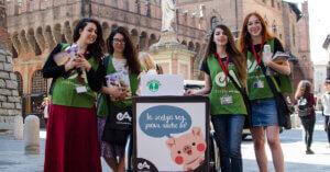 Promozione vegan a Milano e Bologna