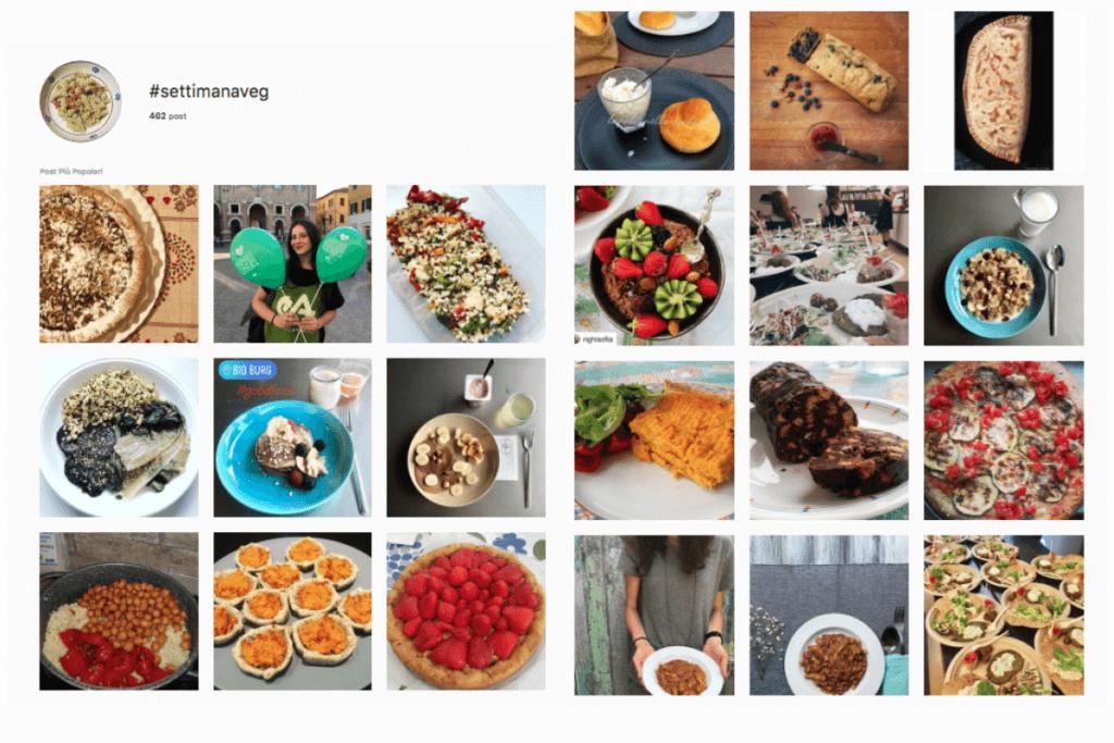 post con hashtag settimanaveg su instagram
