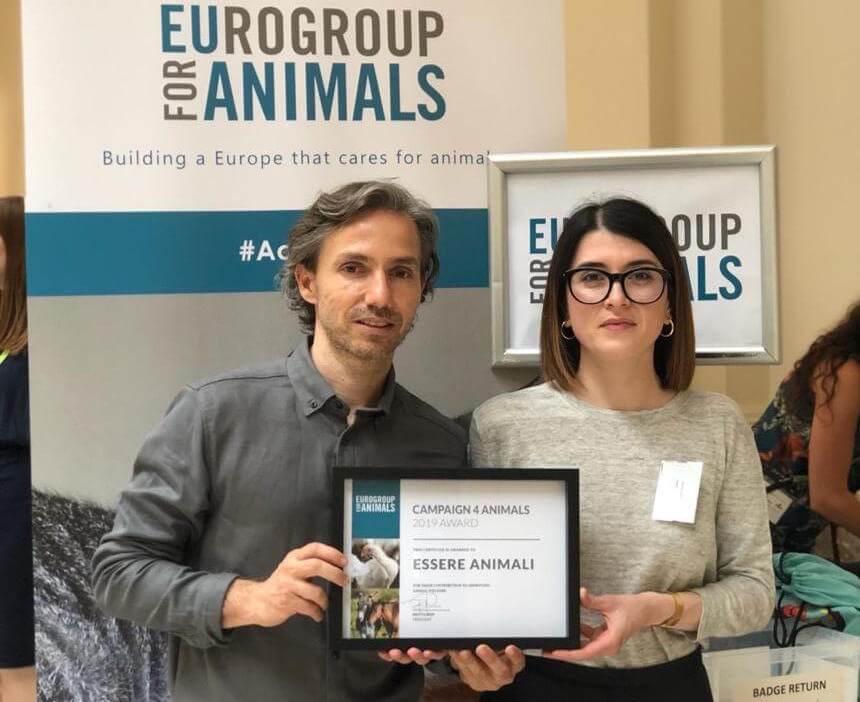 premio campagna 2018 a Essere Animali