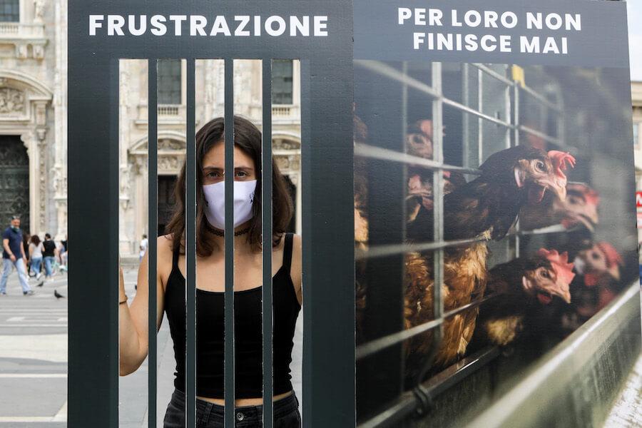 Flash mob Essere Animali Milano